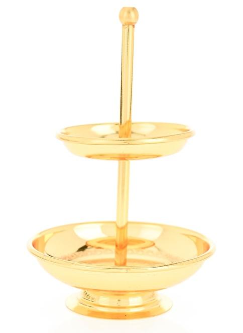 Aref By DECORİSTAN Mini Altın Düz İki Katlı Sele Altın